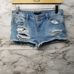 Forever 21 Women's Jean Shorts Sz 27 Distressed